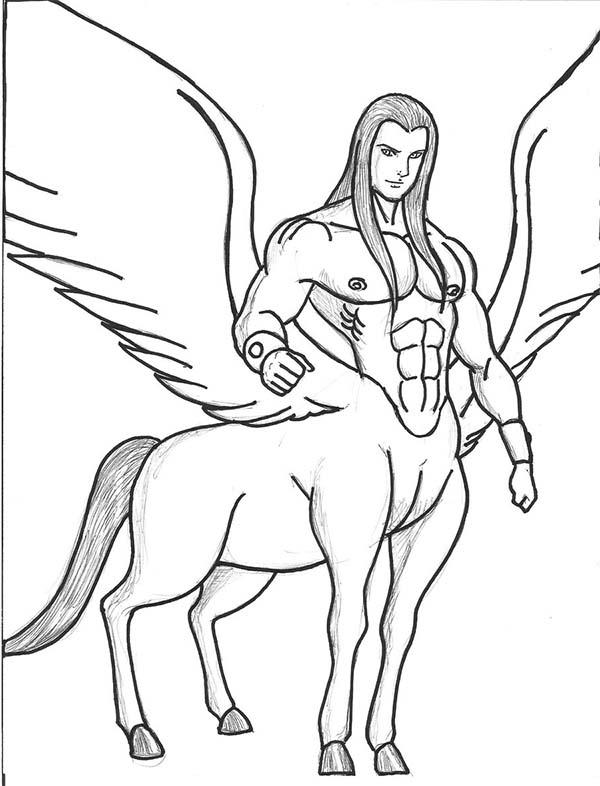 600x786 Centaur Coloring Pages
