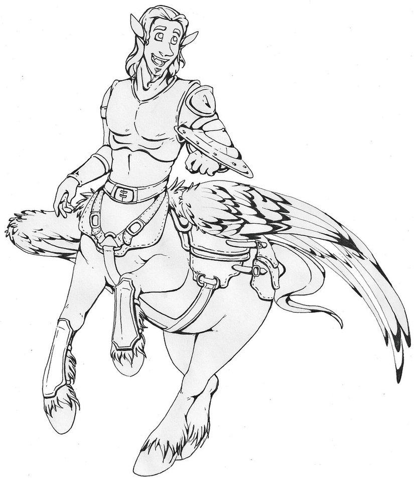 829x963 Centaur Drawing By Baht