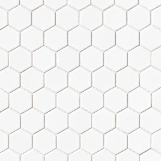 550x550 Le Cafe 2x2 Hex Mosaic White