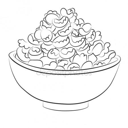 450x450 Bowl Of Cereal Line Drawing Stock Vector Cteconsulting