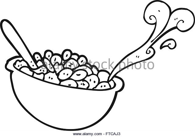 640x449 Cartoon Cereal Bowl Group