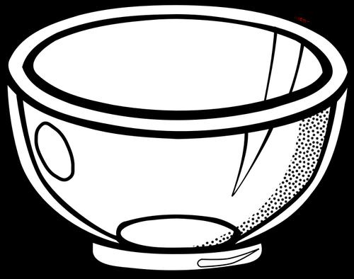 500x394 Image Of See Through Glass Bowl Public Domain Vectors