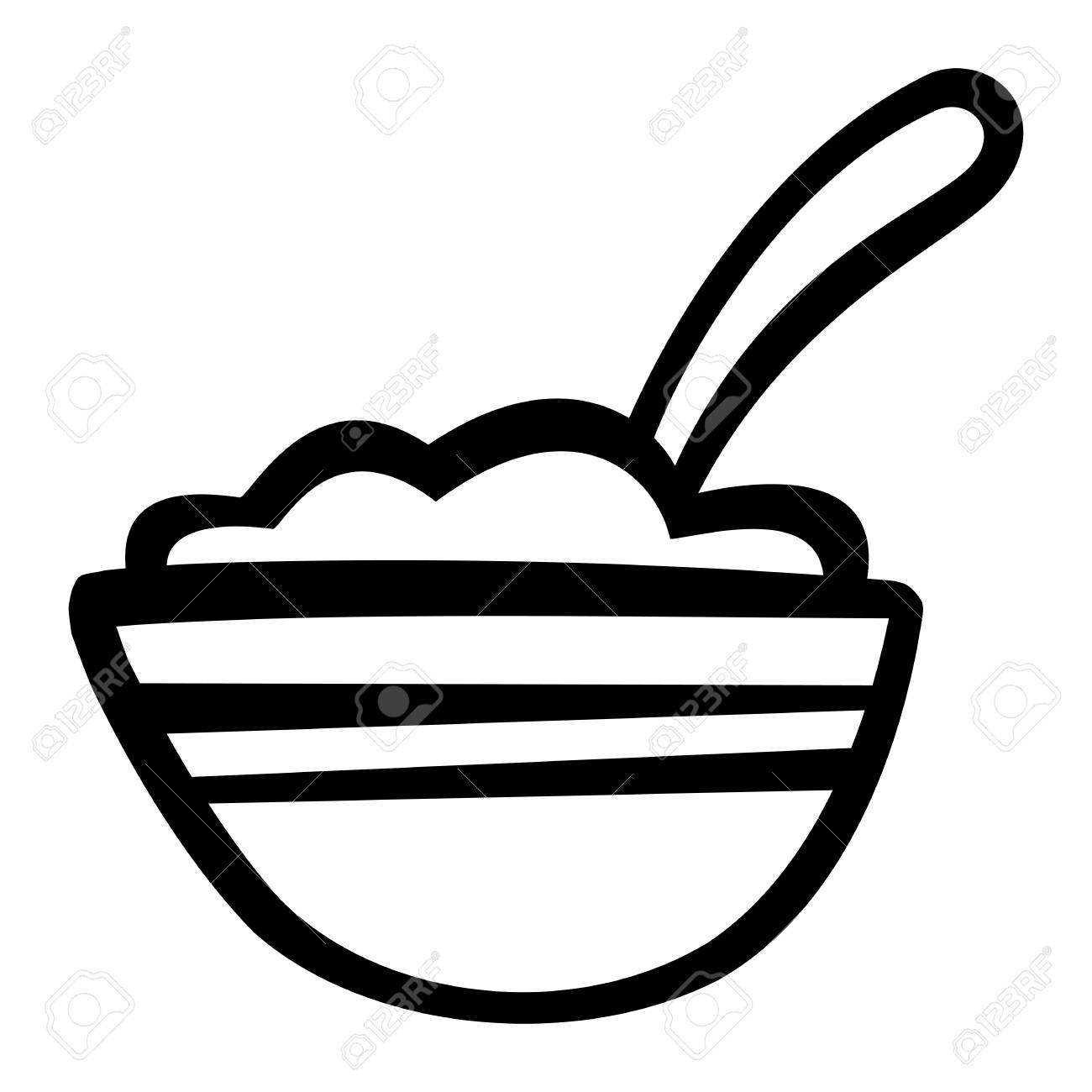 1300x1300 Bowl Of Cereal Icon Ilustraciones Vectoriales, Clip Art