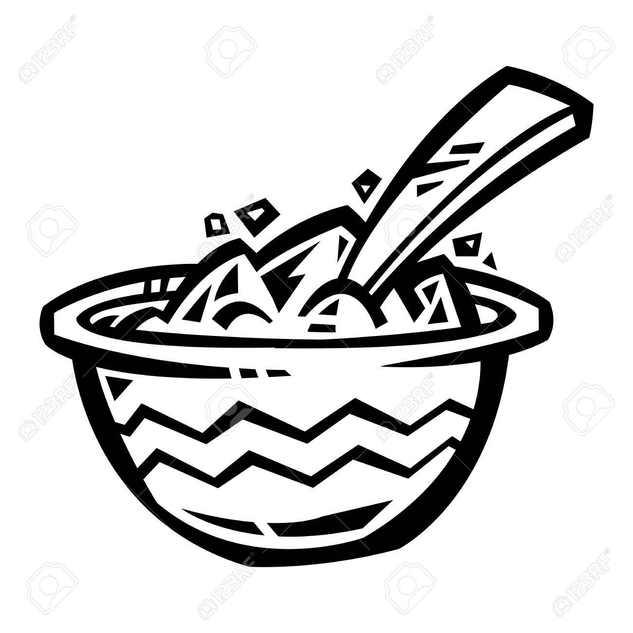 1300x1300 Bowl Of Cereal Icon Royalty Free Cliparts, Vectors, And Stock