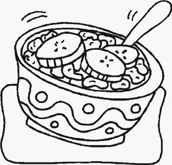 550x528 Cereal Cereal Coloring Page, Cereal Coloring Pages