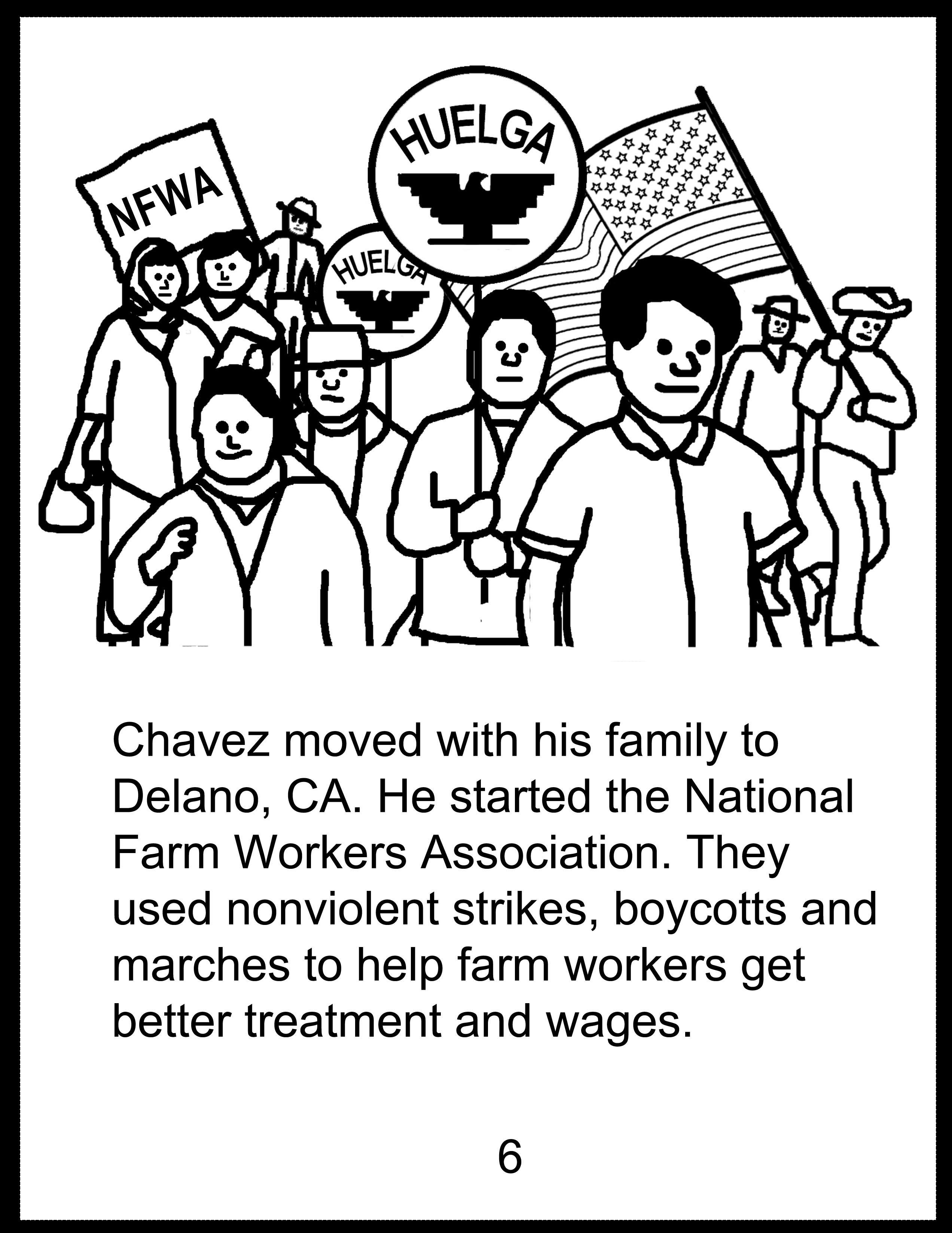 2544x3294 Cesar Chavez Drawing Blb010 Cesar Chavez