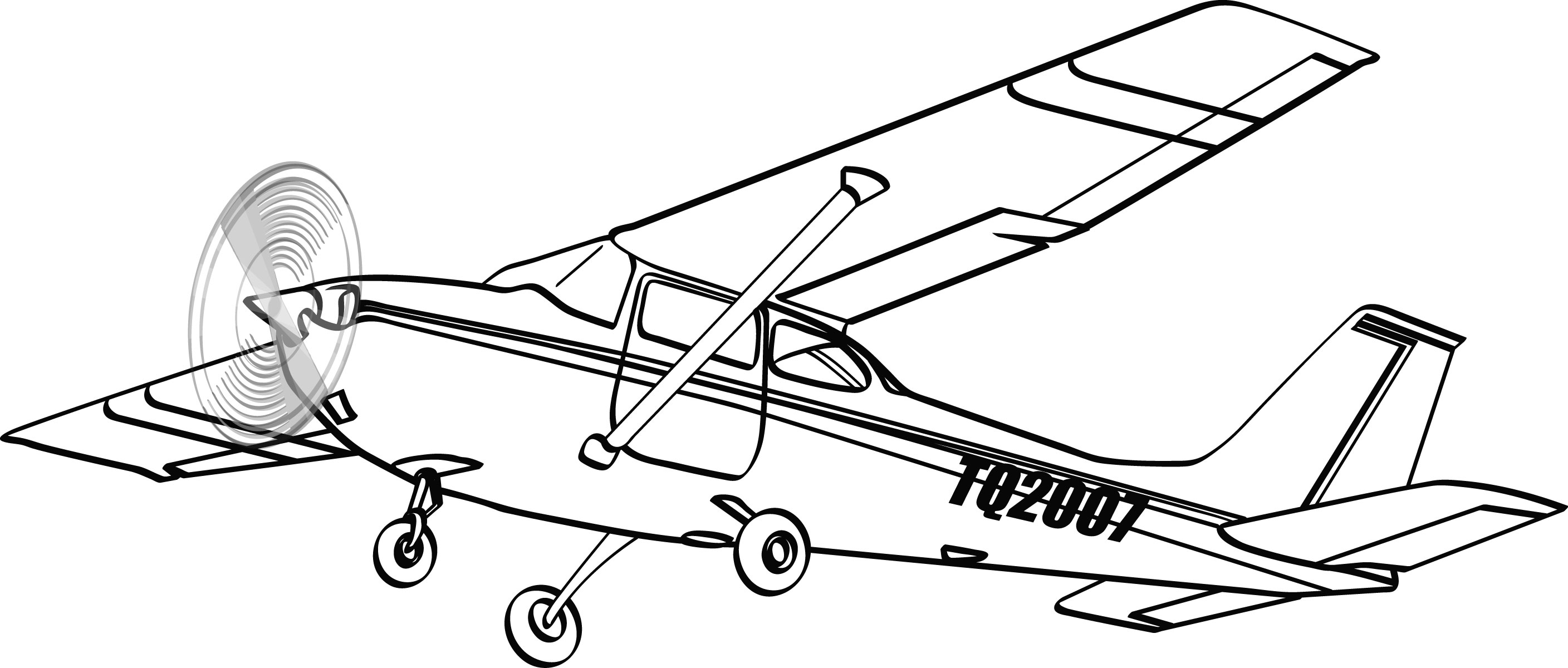 Cessna 172 Drawing at GetDrawings com | Free for personal