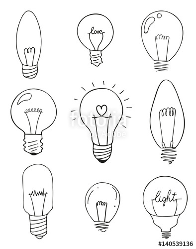 394x500 Light Bulbs Icon Set. Concept Of Big Ideas Inspiration, Innovation