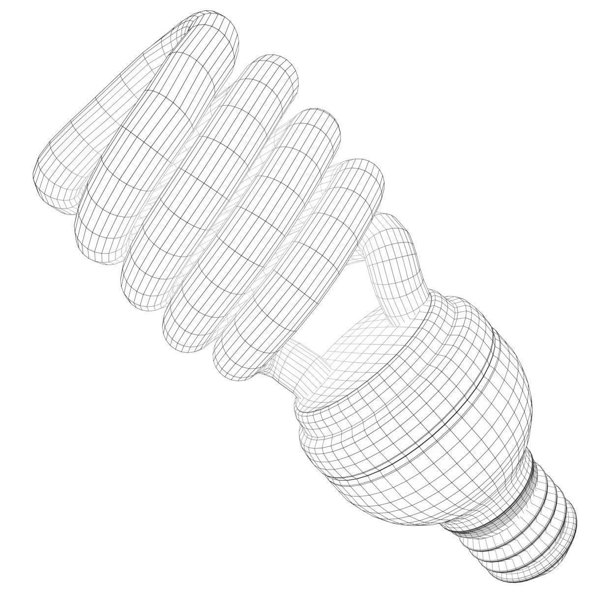 1200x1200 3d Model Cfl Spiral Light Bulb Lamp Cgtrader