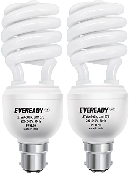460x606 Buy Eveready Els 27 Watt Cfl (White And Pack Of 2) Online