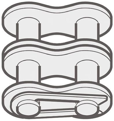 395x420 12b2s26 Renold Steel Roller Chain Link, Chain Type 12b 2 Renold