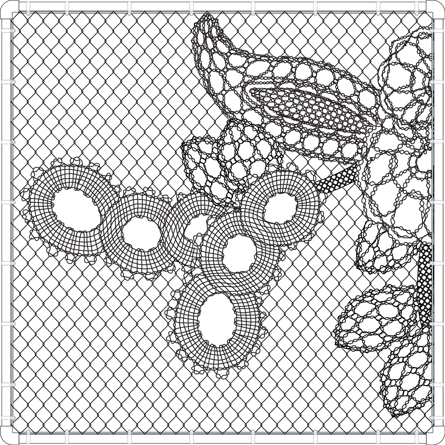 1430x1430 Image Result For How To Draw Lace Chain Link Fence Accessories