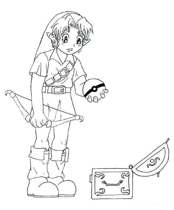 607x734 Link Coloring Pages Also Click This Size Link Coloring Sheets Free