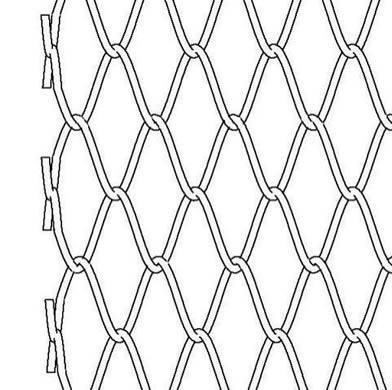392x390 Chain Link Conveyor Belt