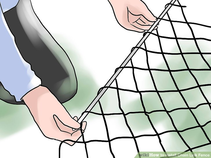 728x546 How To Install Chain Link Fence (With Pictures)
