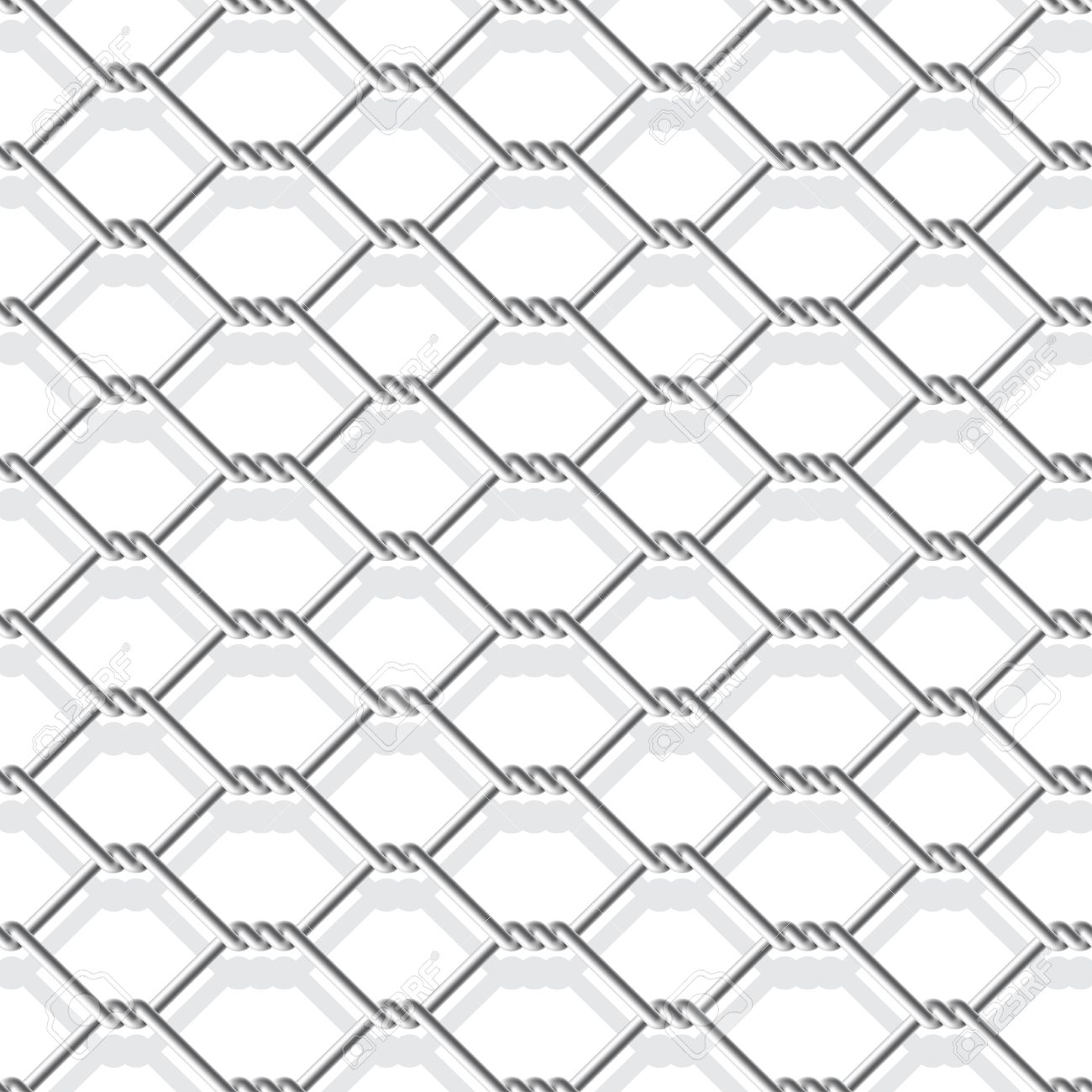 1300x1300 Metal Chain Link Fence Seamless On White Royalty Free Cliparts