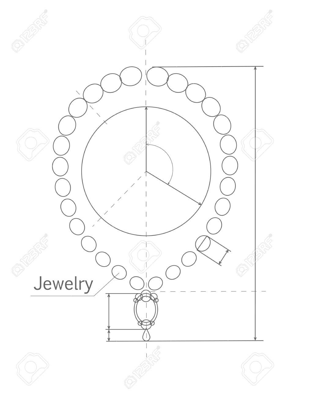 1040x1300 Jewerly Production Sketch. Jewelry Designer Works On Hand Drawing