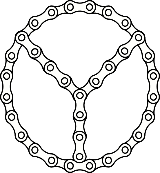 552x597 Peace Chain Links Clip Art