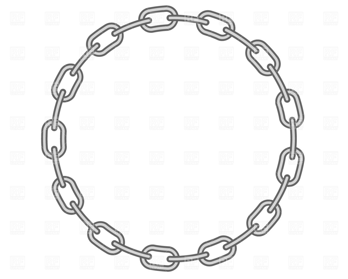 1200x960 Round Chain Frame Royalty Free Vector Clip Art Image