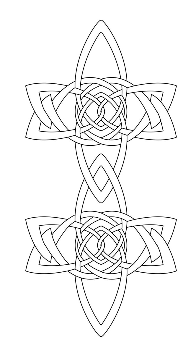 664x1204 Celtic Knot Chain Links By Mental4metal666