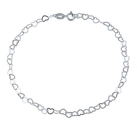 450x450 Cheap Sterling Silver Heart Anklet, Find Sterling Silver Heart