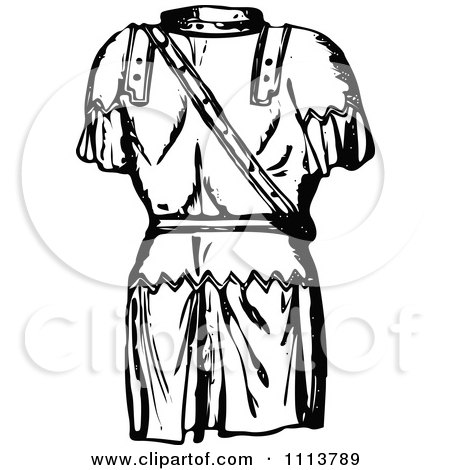 450x470 Clipart Vintage Black And White Ancient Chainmail Coat 1