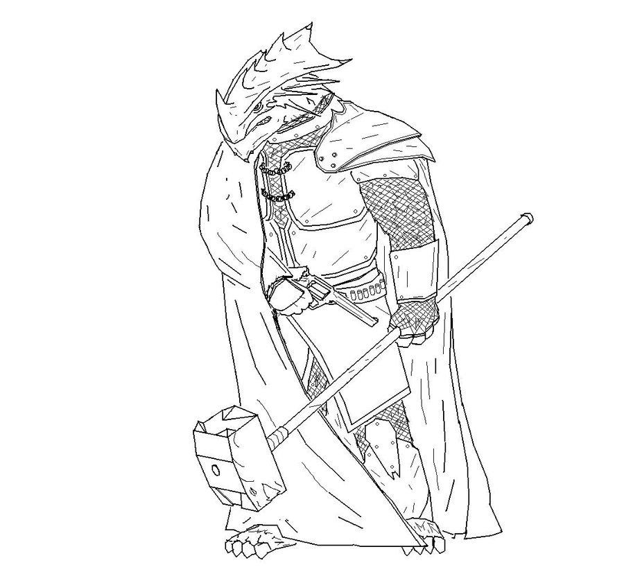 900x841 Arkhosian Dragonborn By Knytgrey