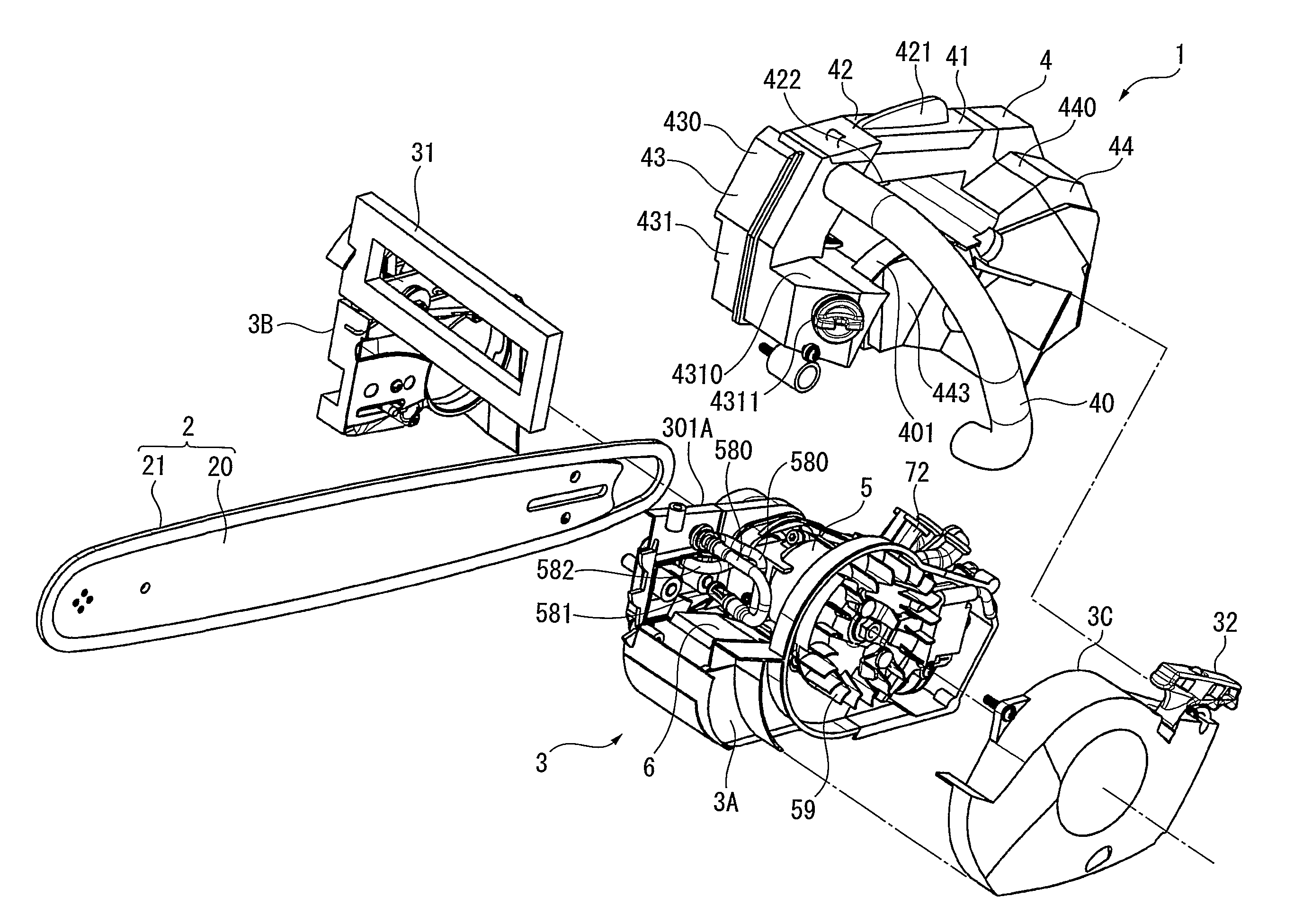 2752x1951 Chainsaw Chain Technical Drawing