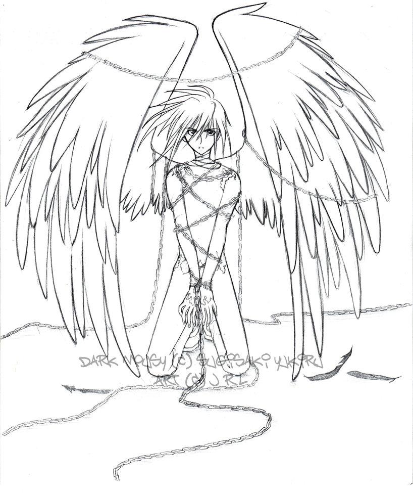 818x977 Fallen Angel Wings Drawing Angels In Chains Httphermionechan