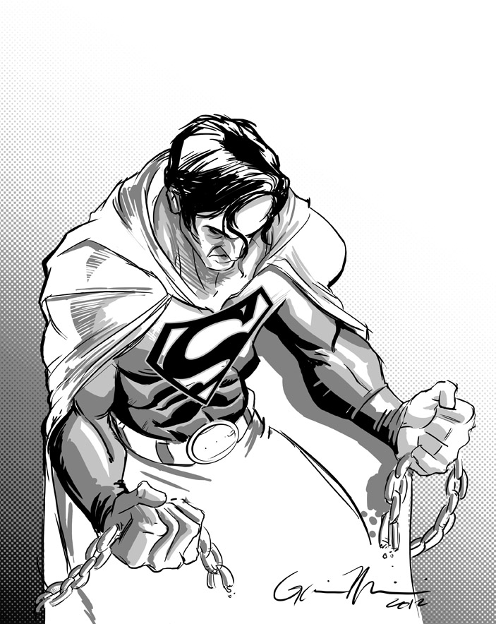 703x884 Superman Breaking Chains