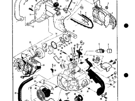 440x330 59 Eager Beaver Chainsaw Chain, Chain Brake Assemblies Diagram