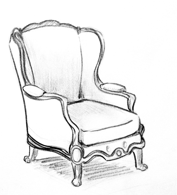 581x640 Chair Drawings On Paigeeworld. Pictures Of Chair