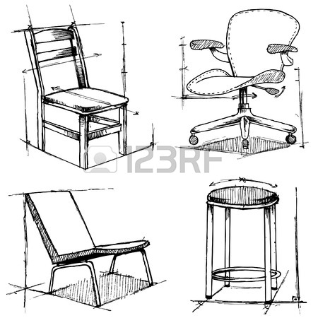450x450 Chairs Drawings Royalty Free Cliparts, Vectors, And Stock