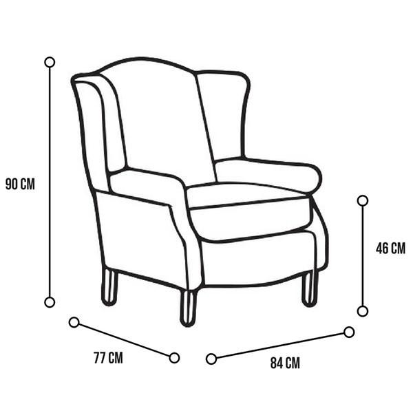 600x600 Morris Red Tartan Wingback Chair Sloane Amp Sons