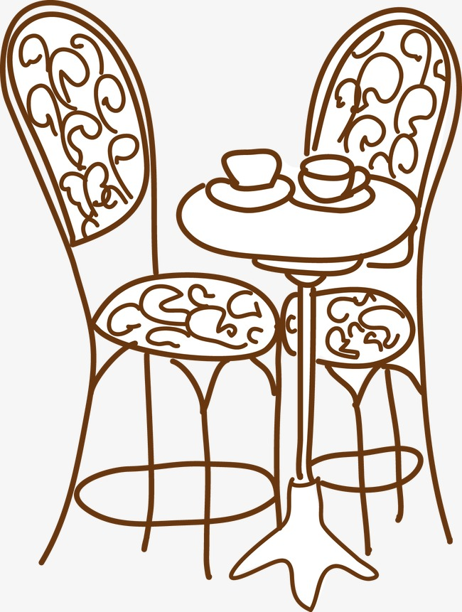 650x861 Tables And Chairs, Line Drawings, Cartoon, Vector Png And Vector