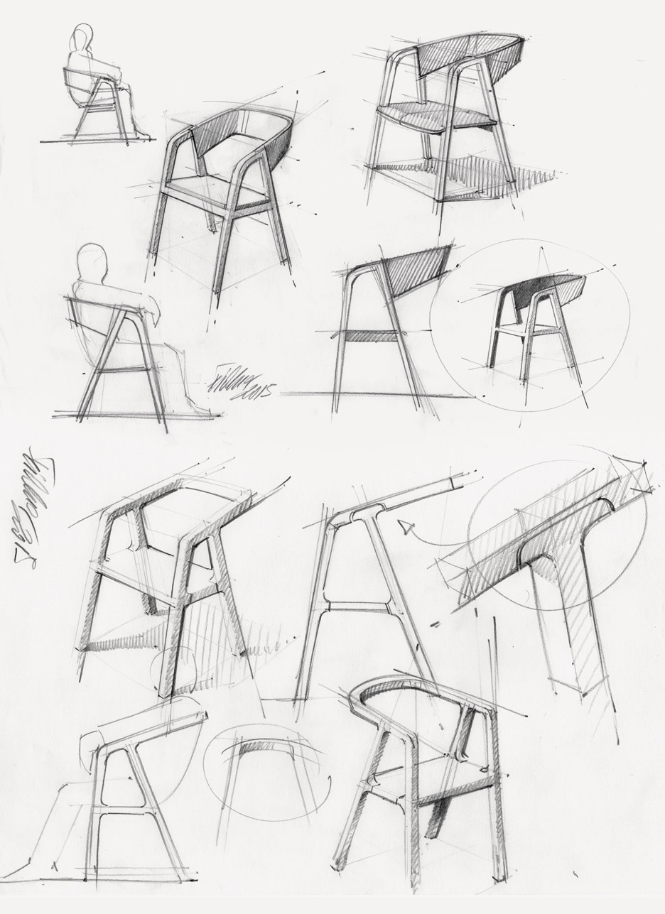 936x1287 Thomas Feichtner's A Chair Uses Traditional Carpentry Joints