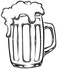 236x287 Beer Mug Vector Illustration Of Chalk Beer Glass On Blackboard