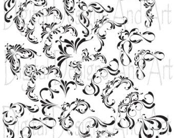 340x270 30 Hand Drawn Corner Clipart Chalk And Black Scrapbook Scrapbook