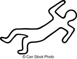 252x194 Body Chalk Outline In A Crime Scene Body Chalk Outline
