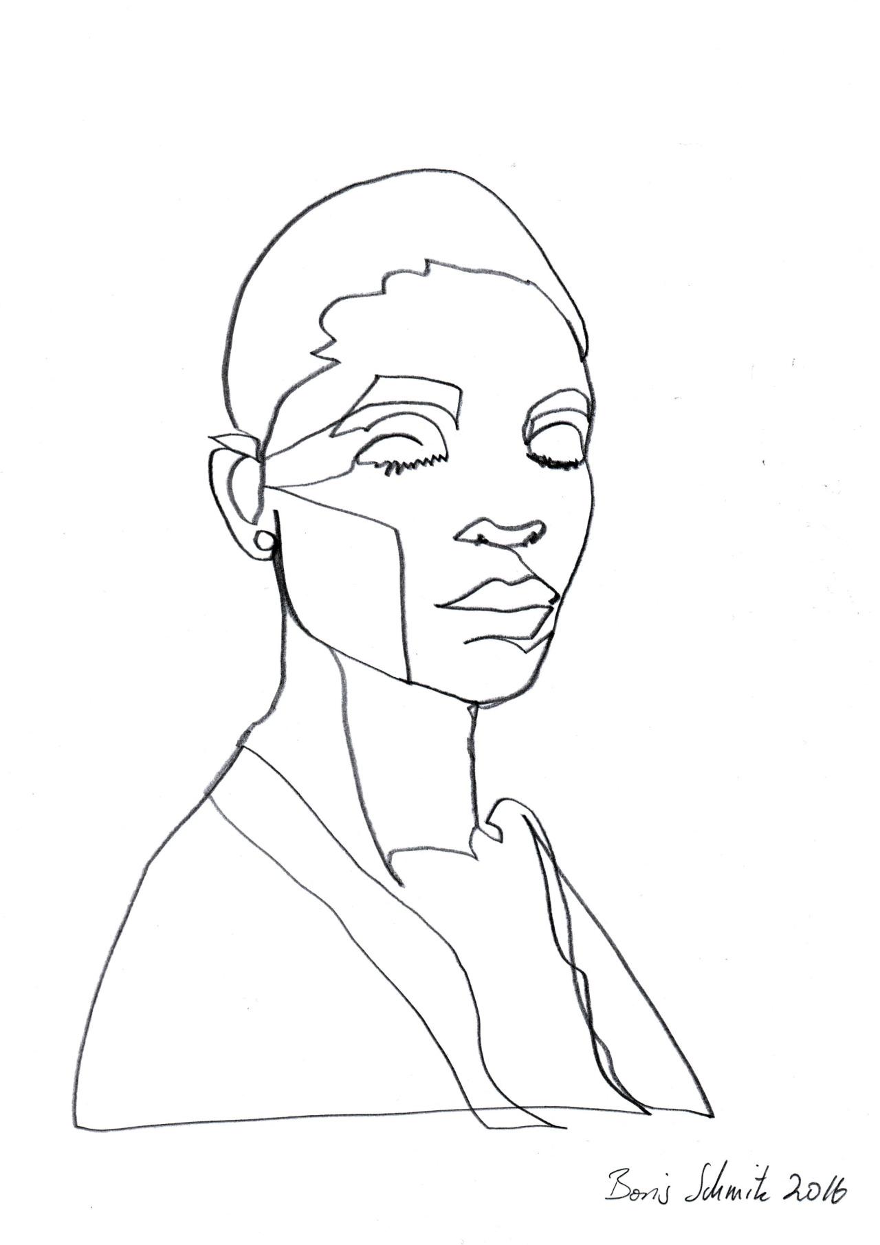 1280x1811 Gaze 456 Continuous Line Drawing By Boris Schmitz Illustrations