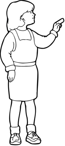 216x480 A Girl Using A Chalk Coloring Page Free Printable Coloring Pages