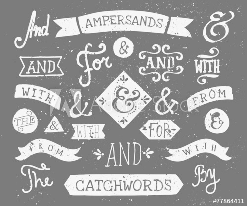 500x417 Hand Drawn Chalkboard Ampersands And Catchwords