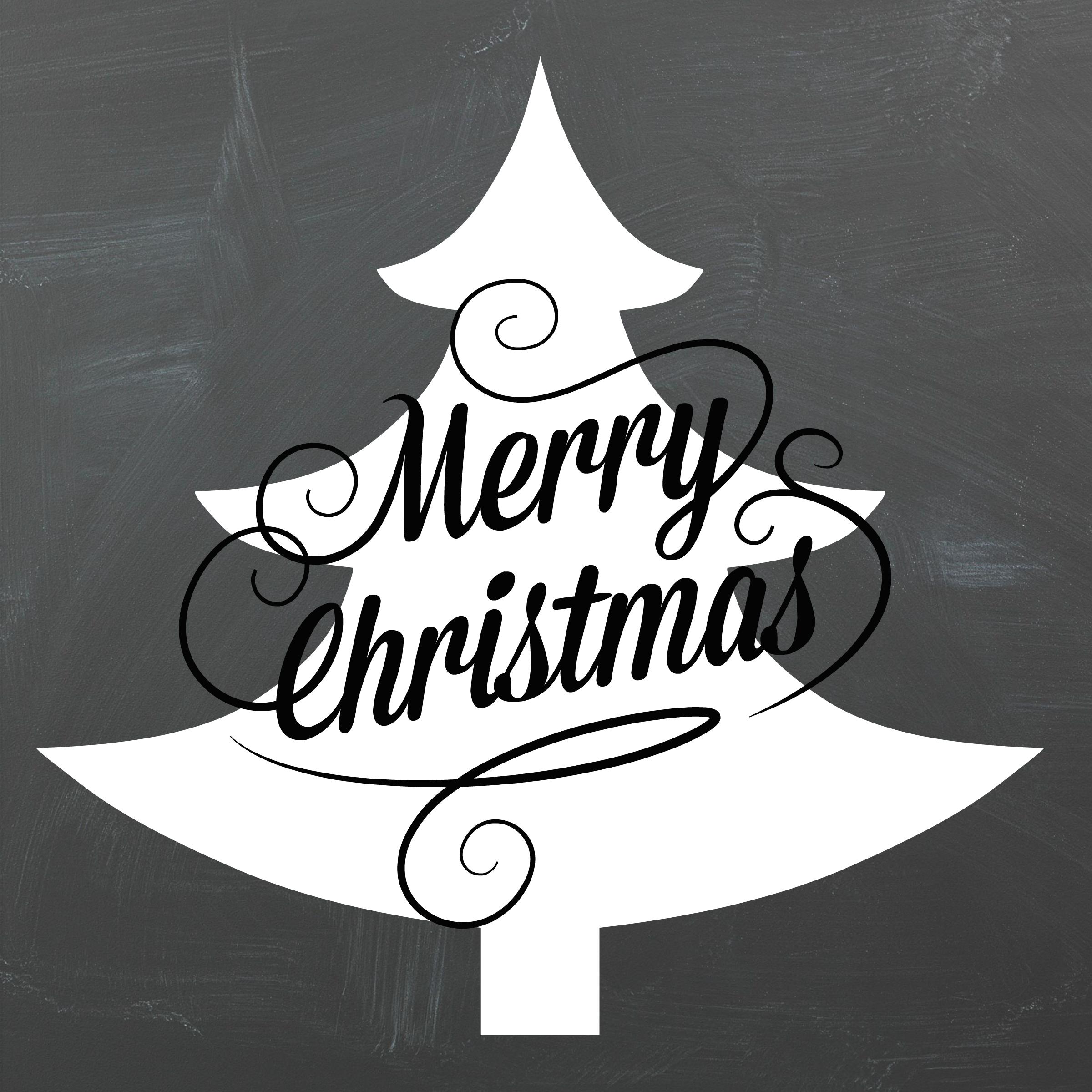2400x2400 Merry Christmas Chalkboard