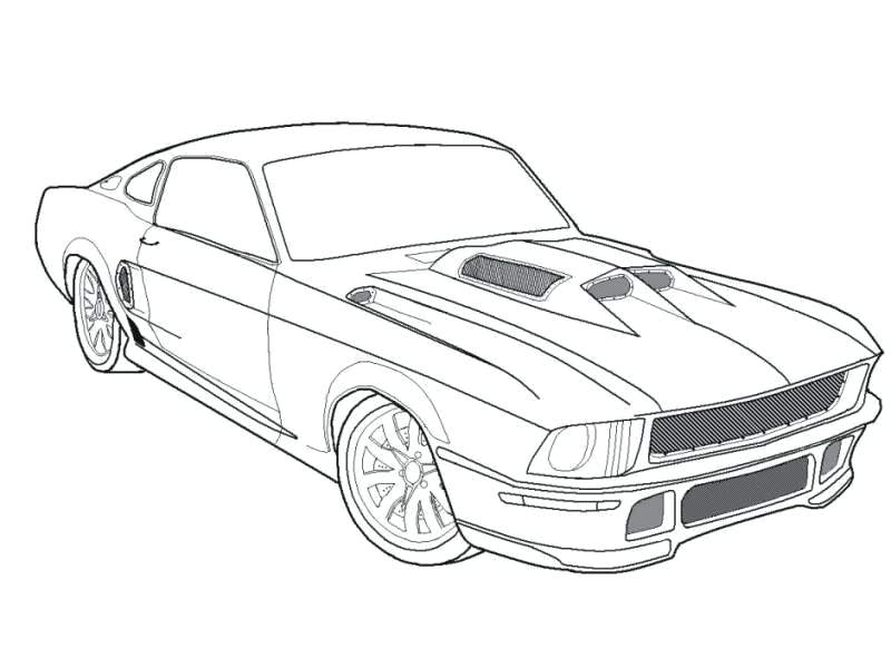 800x600 Dodge Challenger Coloring Pages Cars