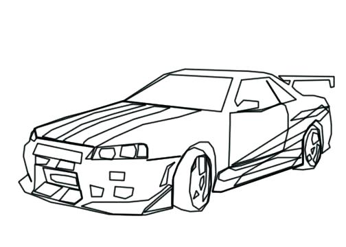 504x360 Dodge Challenger Coloring Pages Fast And Furious Coloring Pages