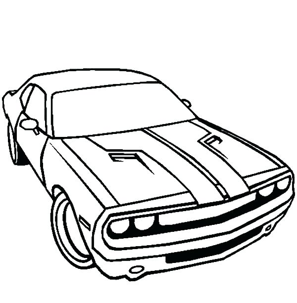 600x613 Dodge Charger Coloring Pages Also Dodge Car Challenger Coloring