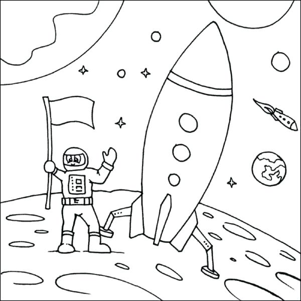 600x600 Astronaut And Space Shuttle Coloring Pages Page Challenger