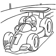 230x230 Car Coloring Pages Dodge Challenger Coloring Page