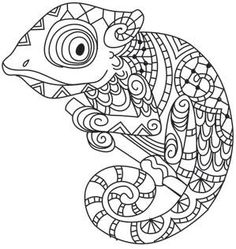 236x249 Chameleon Coloring Page