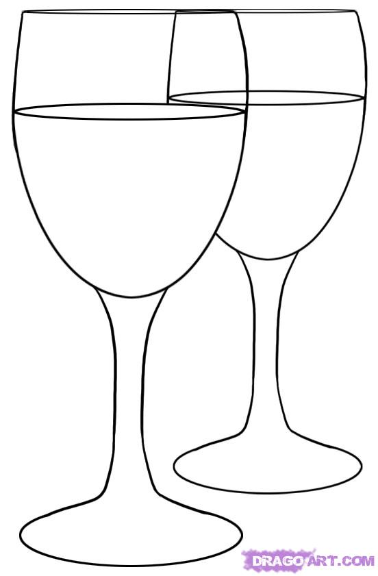 552x841 How To Draw Wine Glasses, Step By Step, Stuff, Pop Culture, Free